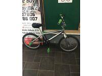 BMX Silver/Green 12 Inch