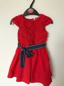 M&S girls red dress 12-18mths