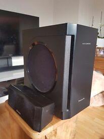 Panasonic Sub Woofer & Centre Speaker - £50