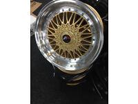 """BMW e30 e21 3 series M30 E30 318i 325i brand new Alloy wheels 17"""" inch alloys wheel Volvo 440 460"""