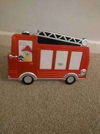 Children's fire engine photo frame