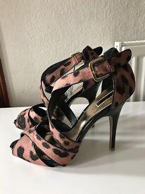 NEW Star by Julie MacDonald leopard print heels