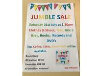 BROOK HOUSE JUMBLE SALE