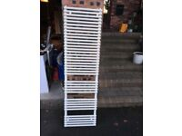 Heated towel radiator white enamel