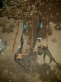 Recovery truck wheel brackets / straps