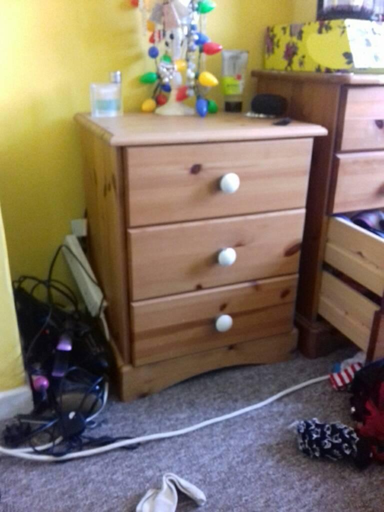 Bedside cabinet solid wood