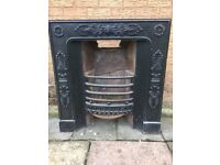 Georgian/Victorian cast iron fireplace