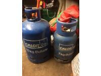 Empty butane gas bottles