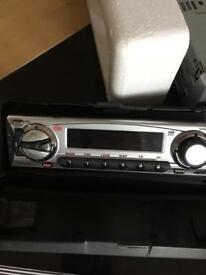 new cd head unit with fm RDS radio boxed