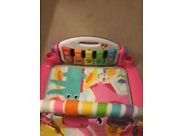 Fisher price piano pink play mat and gym