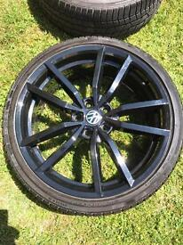 19 inch black Golf R style alloy wheels No tyres
