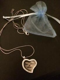 Few left locket keepsake necklaces