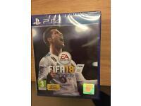 Sealed FIFA 18 PS4 + bonus pack!