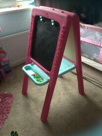 Girls pink ELC easel- like new- perfect for Christmas