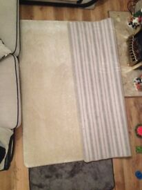 X2, 6ft X 61/2 ft rugs white. Brand new can also deliver £55