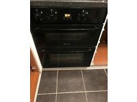 Under Counter Electric Double Oven in black, Hotpoint, Only 14 months old, Collection only