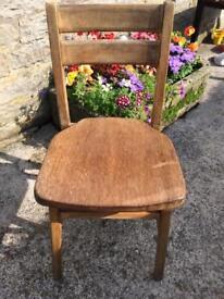 Vintage Solid Wood School Chair