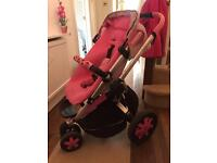 Unique Quinny Buzz 3 Pink Princess Push Chair Pram Roller