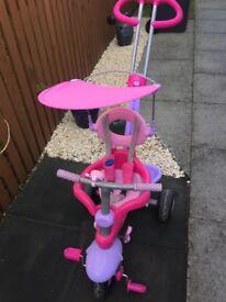 Girls 3 wheeler bike