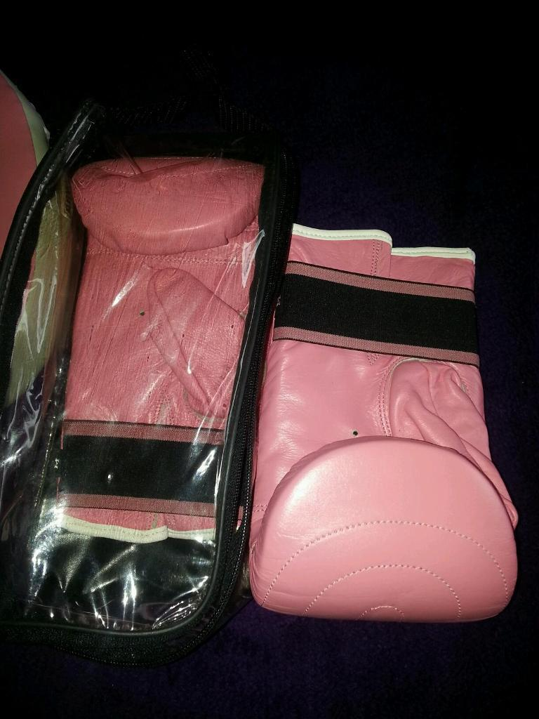 Pink Boxing Gloves & Punch Pads | in Bangor, County Down | Gumtree
