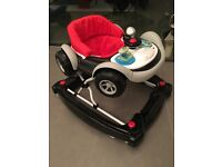 Coupe Car Baby Walker in black