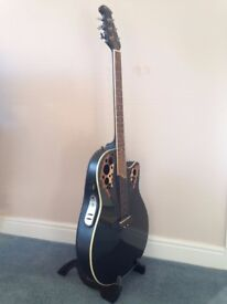 Ovation Applause Electro-acoustic Guitar with leaf sound holes