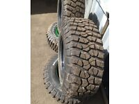 Defender discovery Set 4 steel wheels & tyres BFGoodrich 305/70/16