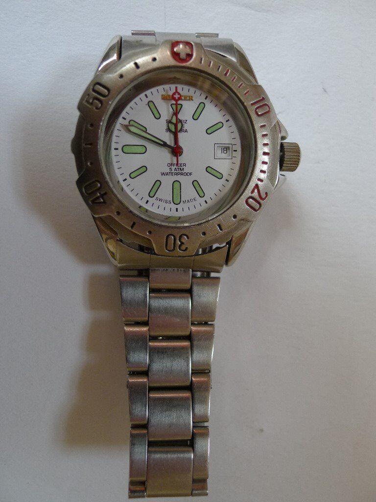 Pointer of Switzerland # 9505 Gents stainless steel watch. 50m WR