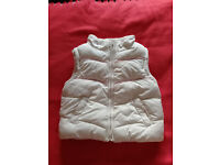 girls' cream gilet - collection only please