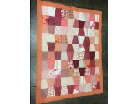 Vintage style patchwork quilt/throw
