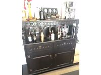 Beautifully ornate Gothic style drinks cabinet / sideboard.
