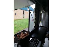 Catering van and pitch for sale
