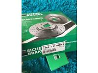 Brake pads and Brake discs (front and back)