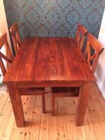 Stunning Jugs wooden dining table and chairs