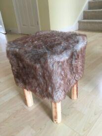 Fluffy stool.