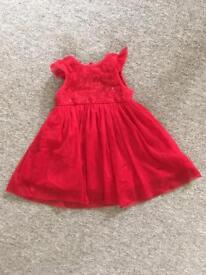 Xmas/party dress 9-12 months