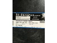 2 x Ed Sheeran Tickets Cardiff 24th June