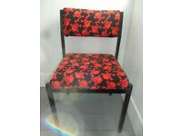 CHAIR - Recovered in New Skull and Cross Bones Polartec Fleece Fabric - Ideal for Child's Room