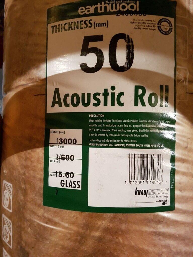 Knauf earthwool acoustic insulation 50mm roll
