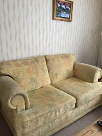 Three piece suite. 3seater couch and 2chairs in good condition