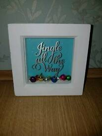 Jingle bell Christmas Shaker pictures/ decorations