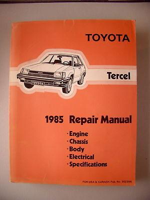 Toyota Tercel 1985 Repair Manual Engine Chassis Body ..
