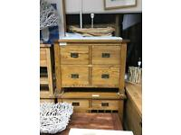 Oak Industrial style chest