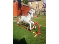 Vintage outdoor rocking horse