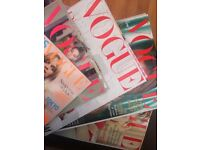 FREE 70+ British Vogue Magazine good condition some new FREE