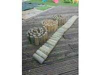 GARDEN WOODEN BARRIER - 4 ROLLS