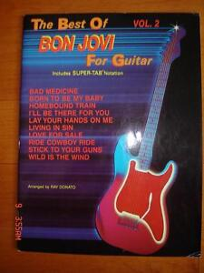 The Best of Bon Jovi for Guitar Songbook Sheet Music