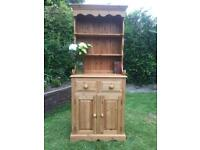 Lovely Pitched Pine Old Fashioned Dresser. Solid Throughout.