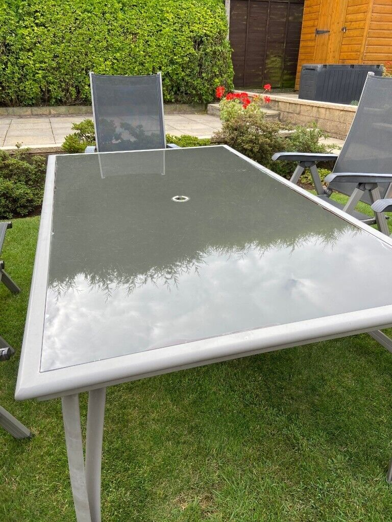 Glass & Aluminium Garden Table Only  in Burbage, Leicestershire
