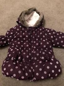 Girls 9-12 Months M&S purple coat
